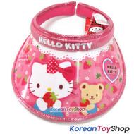 Hello Kitty Visor Hat Sun Cap Kids Girl Kitty Strawberry Model Designed by Korea