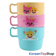PINKFONG Plastic Handle Cup 3 pcs Set Water,Toothbrush Cup Original