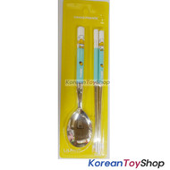 KAKAO Friends TUBE Stainless Steel Spoon & Chopsticks Set Kids BPA Free original