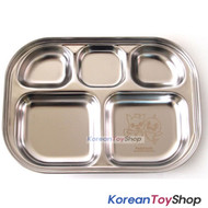 PINKFONG Cute Stainless Steel Food Tray for Kids or Diet BPA Free Original