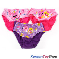 Pinkfong Toddler Girl 3-Pack Briefs Panties Underwear 2T 100% Cotton Original