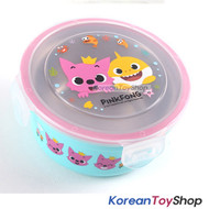 PINKFONG Stainless Steel Bowl Food Container 370ml w/ Lid BPA Free Original