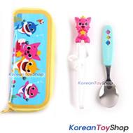 PINKFONG Stainless Steel Spoon Training Chopsticks Case Set Original