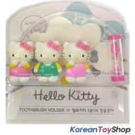 Hello Kitty Toothbrush Holder 3pcs with sandglass Mirror Suction Holder Original