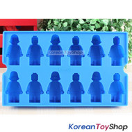 Lego Figure style Food-grade Blue Silicone Ice Chocolate Jello Mold Original