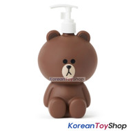LINE Friends Hand Pump Make Up Liquid Soap Shampoo Dispenser Bottles BROWN Model