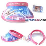 Disney Frozen Visor Hat Sun Cap Kids Girl Pink Color Elsa Designed by Korea