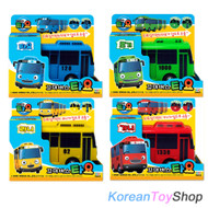 The Little Bus TAYO Diecast Plastic Toy Car Set - Tayo Rogi Rani Gani (4 pcs)