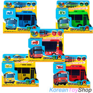 The Little Bus TAYO Diecast Plastic Toy Car Set Tayo Rogi Rani Gani Cito (5 pcs)