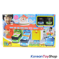 The Little Bus Tayo Main Garage Toy with Tayo and Rogi Bus - Sound, Voice Effect