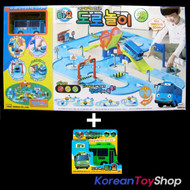 The Little Bus TAYO Street Play Toy Set with 2 Buses Tayo and Rogi Mini Car