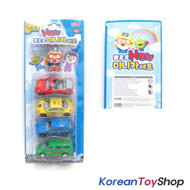 Pororo Cute Figure 1 pc & Metal Diecast Mini Car 4 pcs Toy Set, Korean Animation
