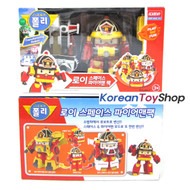 Robocar Poli ROY Transformer Space Fireman Pack Toy Red Fire Engine Car Robot