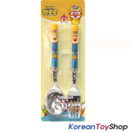Pororo Simple Stainless Steel Spoon Fork Set / BPA Free / Made in Korea
