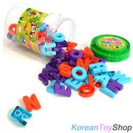 Magnetic Alphabet Upper Case Letters Jar 78pcs High Quality, Made in Korea