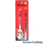 Angry Birds Stainless Steel Spoon Chopsticks Set Kids Children BPA Free Korea