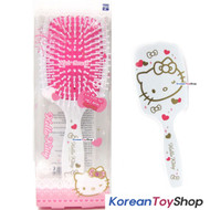 Hello Kitty Hair Cushion Brush Comb / Square White Color / Made in Korea