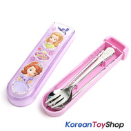 Disney Princess Sofia the First Stainless Steel Spoon Fork Chopsticks Slide Case