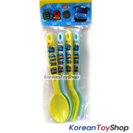 Little Bus TAYO Plastic Spoon Fork 4 pcs Set for Kids Children Made in Korea
