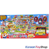 Pororo Kindergarten Playground Play Set Preschool School Bus w/ 6 Figures Toy