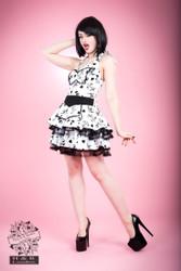 H&R London Obsession Tattoo Print Maid Dress