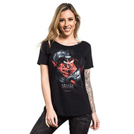 Sullen Burning Love Scoop Neck Open Back T-Shirt
