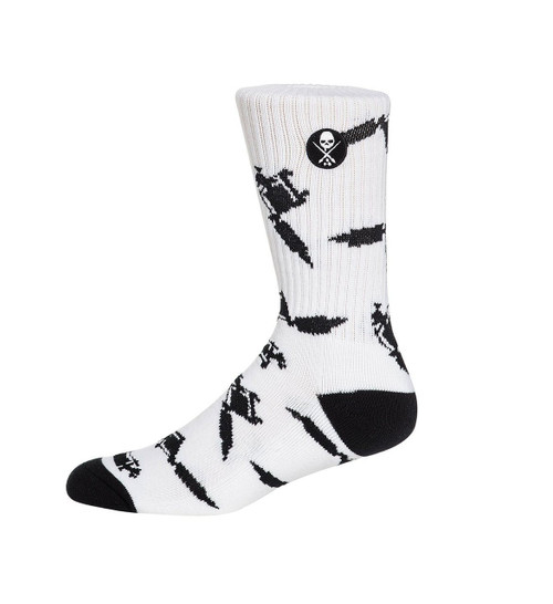 Sullen Machined Socks White