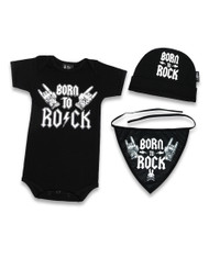 Six Bunnies Born To Rock Baby Gift Set  SB-SET-00023