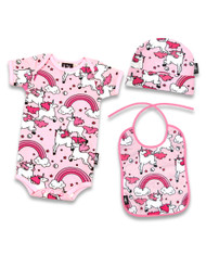 Six Bunnies Rainbows Pink Baby Gift Set  SB-SET-00020