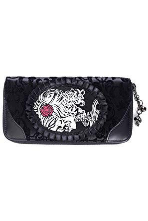 Banned Ivy Black Cameo Lady Lace Wallet  WBN-1415