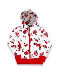Six Bunnies Hot Rod Cherry Kid's Hoodies