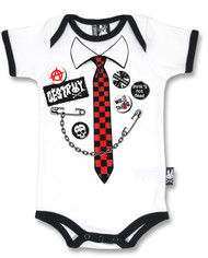 Punk Tie Baby Romper RP-030