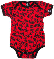 Misfits Skeleton Hands Baby Romper Red SPOP-25