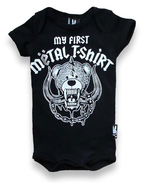 My First Metal Shirt Baby Romper  KK-198