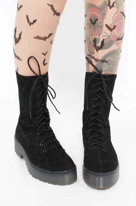 Iron Fist/Walking In My Web Heavy Sole Boot Black IFW005099-Black