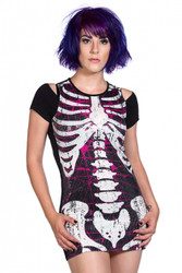 Banned Sequins Skeleton Top  OBN-130