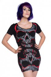 Banned Red Mirror Skull Top  OBN-134