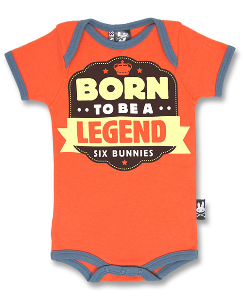 Six Bunnies Born To Be A Legend Baby Romper  RP-046