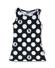 Six Bunnies Polka Dot Black Kid's Dress  SB/KDR-026