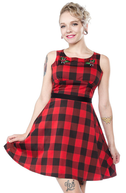 Sourpuss Buffalo Plaid Flower  SP-DR-321