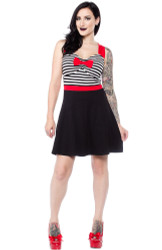 Sourpuss Sweetheart Dress Black & White  SP-DR-277