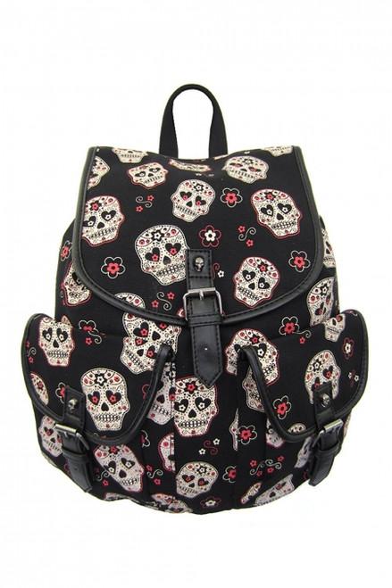 Banned Sugar Skull Backpack  BBN-779