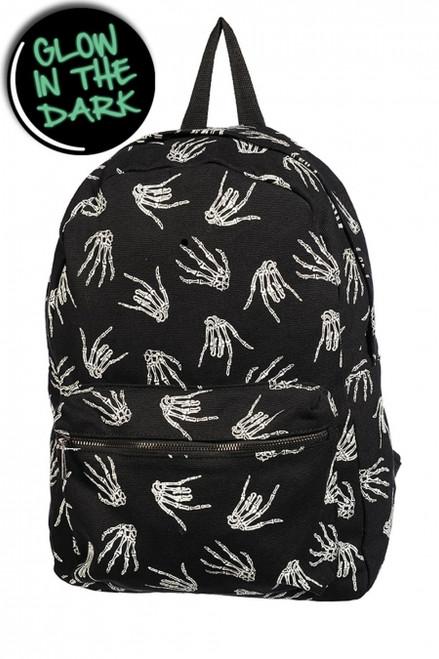 Banned Skeleton hand Backpack  BBN-775-GLOW