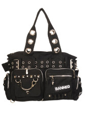 Banned Handcuff Handbag Black