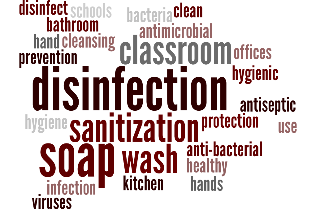 disinfecting and sanitizing