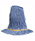 Antimicrobial Looped End Wet Mop Head - Blue