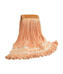 King of Mops Looped End Wet Mop - Orange
