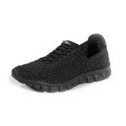 Danielle-A Black Metallic Casual Woven Sneaker