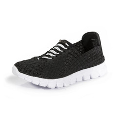 Danielle Black Metallic/White Bottom Woven Sneaker