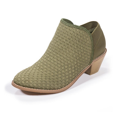 Monica Olive Ankle Booties